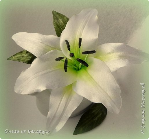 Приветствую всех гостей моего блога! Я уже рассказала как делаю тычинки и пестик для лилий,как окрашиваю лепестки и вот осталось показать сборку цветка. В этом мастер-классе я покажу свои наработки,а также классический пример создания лилий. В лилиях я новичок,только учусь,это мои первые пробы пера и если кто-то найдет что-то полезное для себя,то буду рада! фото 23