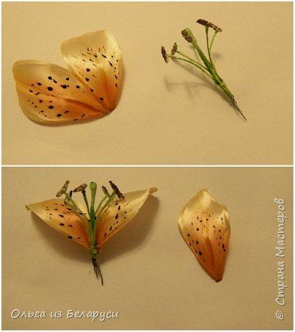 Приветствую всех гостей моего блога! Я уже рассказала как делаю тычинки и пестик для лилий,как окрашиваю лепестки и вот осталось показать сборку цветка. В этом мастер-классе я покажу свои наработки,а также классический пример создания лилий. В лилиях я новичок,только учусь,это мои первые пробы пера и если кто-то найдет что-то полезное для себя,то буду рада! фото 7