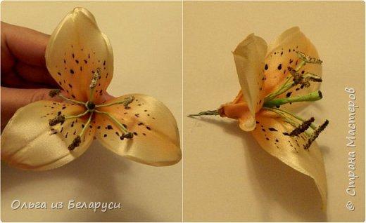 Приветствую всех гостей моего блога! Я уже рассказала как делаю тычинки и пестик для лилий,как окрашиваю лепестки и вот осталось показать сборку цветка. В этом мастер-классе я покажу свои наработки,а также классический пример создания лилий. В лилиях я новичок,только учусь,это мои первые пробы пера и если кто-то найдет что-то полезное для себя,то буду рада! фото 8