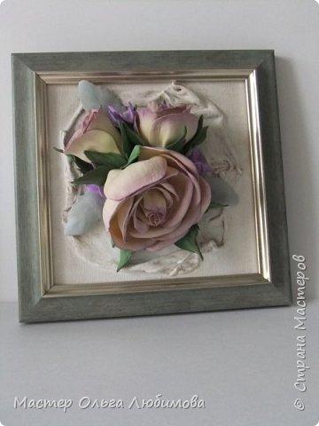 """Панно-картина """"Розы на холсте"""" фото 1"""