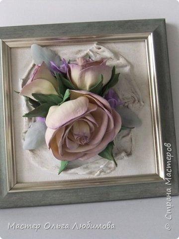 """Панно-картина """"Розы на холсте"""" фото 2"""