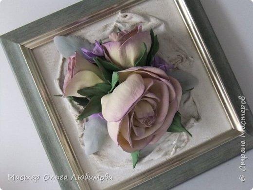 """Панно-картина """"Розы на холсте"""" фото 3"""