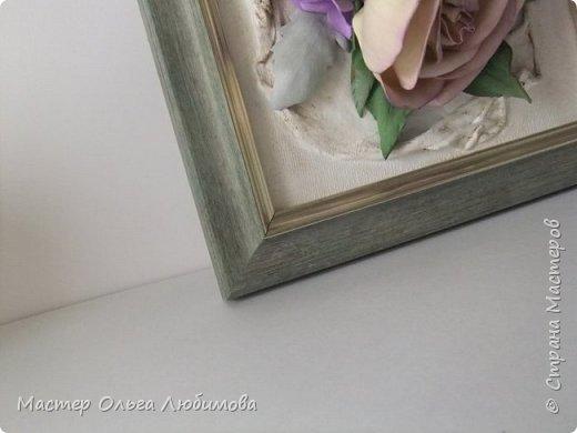 """Панно-картина """"Розы на холсте"""" фото 4"""