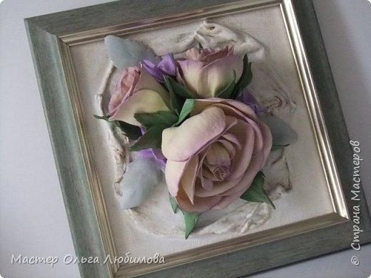 """Панно-картина """"Розы на холсте"""" фото 5"""