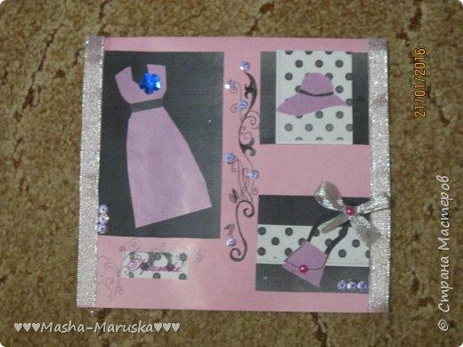 Здравствуйте! Сегодня я покажу вам три открытки. Первая была сделана бабушке на день рождения. Материалы: картон, бумага, ручка, ленточка, фломастеры. фото 7