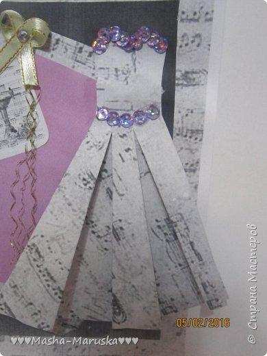 Здравствуйте! Сегодня я покажу вам три открытки. Первая была сделана бабушке на день рождения. Материалы: картон, бумага, ручка, ленточка, фломастеры. фото 14