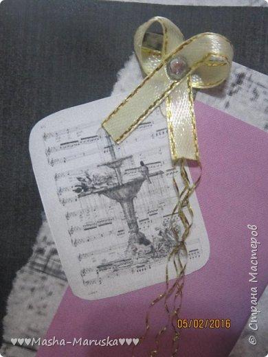 Здравствуйте! Сегодня я покажу вам три открытки. Первая была сделана бабушке на день рождения. Материалы: картон, бумага, ручка, ленточка, фломастеры. фото 15