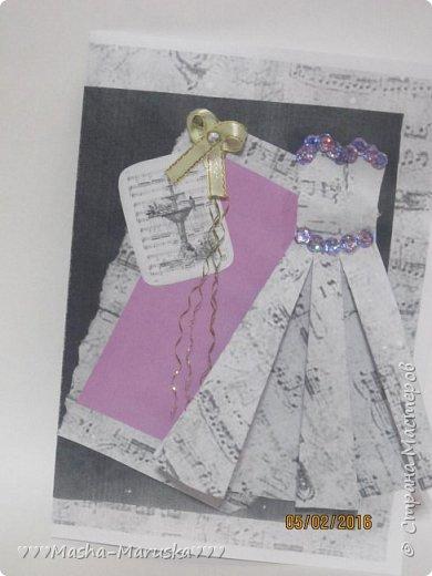Здравствуйте! Сегодня я покажу вам три открытки. Первая была сделана бабушке на день рождения. Материалы: картон, бумага, ручка, ленточка, фломастеры. фото 16