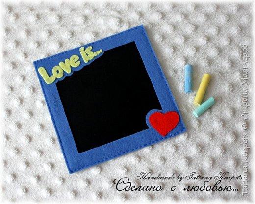 А вы уже приготовили подарки для любимых? Меловая досочка из фетра для коротких заметок-сообщений отличный подарок в день Св. Валентина. С оборотной стороны досочки есть магниты.