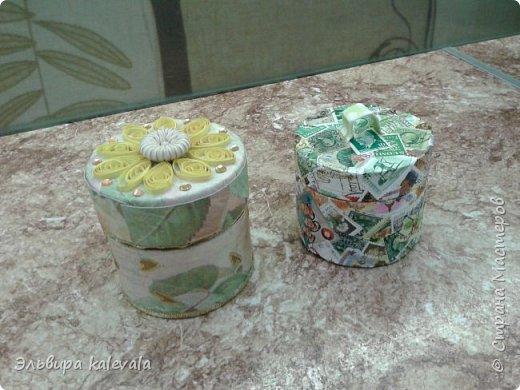 Очередные шкатулочки из бобин от скотча фото 1
