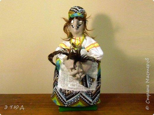 Бабка Петровишна продолжает серию бабок Ежек сшитых из текстиля. фото 1