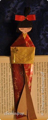 Закладка для книги .Мне очень понравилось складывать фигурки.. Очень увлекательный процесс.МК из интернета. .  фото 4
