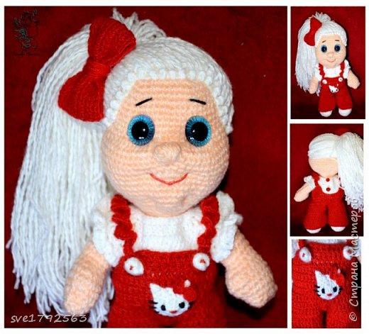 Вязанная куклёна , Китти. фото 2