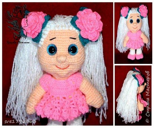 Вязанная куклёна , Китти. фото 3
