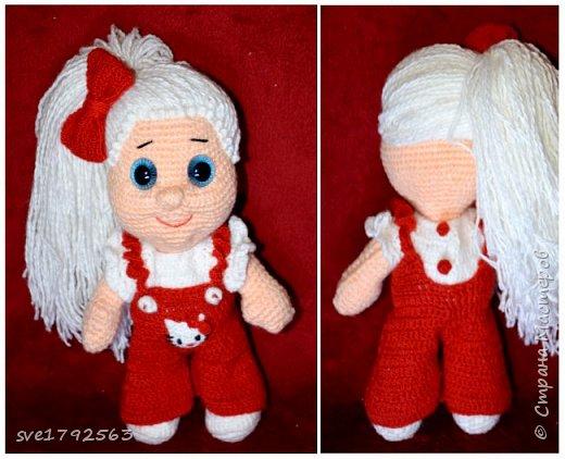 Вязанная куклёна , Китти. фото 1