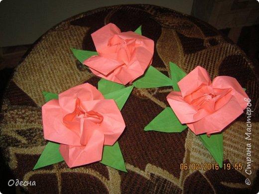 Очень симпатичные рози из бумаги. Схему нашел в кокой то книге по оригами. фото 2