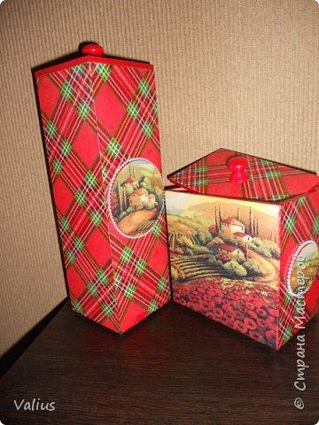 """Набор из спагетницы и короба """"Тоскана"""".  Потянуло меня на что-то яркое, броское... Хотела сделать в подарок, но... не смогла отдать - мое... фото 2"""