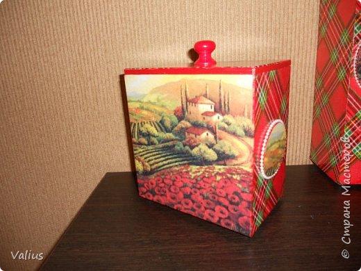 """Набор из спагетницы и короба """"Тоскана"""".  Потянуло меня на что-то яркое, броское... Хотела сделать в подарок, но... не смогла отдать - мое... фото 3"""