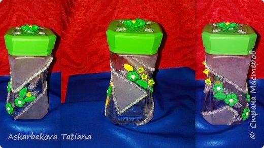 Начала я работу с украшения баночек для кофе.... фото 2