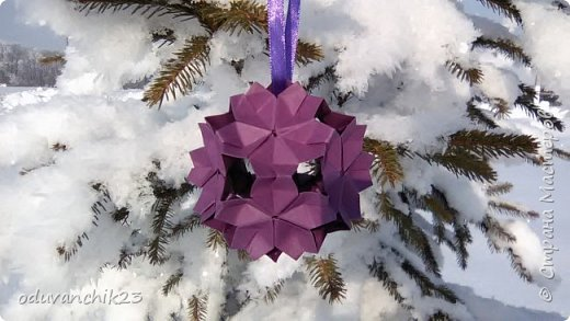 Name: Passiflora Designer: Ekaterina Lukasheva Parts: 30 Paper's size: 7*7 cm Joint: wiht glue Final height:  cm  http://www.kusudama.me/origami/Passiflora#alin2 фото 12