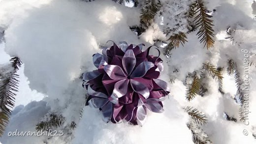 Name: Passiflora Designer: Ekaterina Lukasheva Parts: 30 Paper's size: 7*7 cm Joint: wiht glue Final height:  cm  http://www.kusudama.me/origami/Passiflora#alin2 фото 3