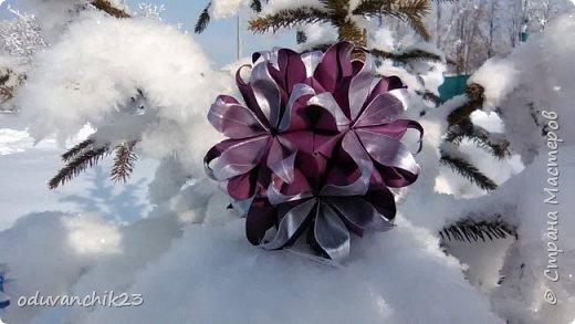 Name: Passiflora Designer: Ekaterina Lukasheva Parts: 30 Paper's size: 7*7 cm Joint: wiht glue Final height:  cm  http://www.kusudama.me/origami/Passiflora#alin2 фото 2