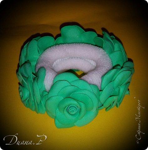 Резиночка на гульку . Розочки из фоамирана фото 2