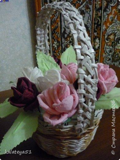 мои плетения из газет фото 1