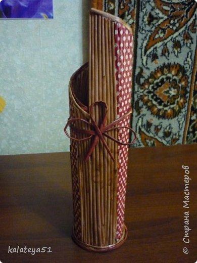 мои плетения из газет фото 2