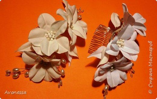 Гребешок для невесты/несложный цветок
