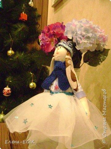 Знакомьтесь зайка-тильда Новогодняя!!! фото 1