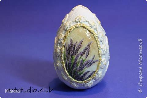 Здравствуйте, дорогие друзья. До пасхи еще два месяца, а я уже начала подготовку. Предлагаю вашему вниманию декорированные гипсовые яйца. Их размер: 5,5 х 8,5 см.  фото 3