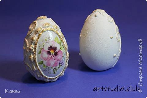 Здравствуйте, дорогие друзья. До пасхи еще два месяца, а я уже начала подготовку. Предлагаю вашему вниманию декорированные гипсовые яйца. Их размер: 5,5 х 8,5 см.  фото 5