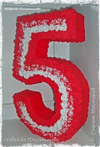 Цифра 5 декоративная для Дня Рождения фото 3