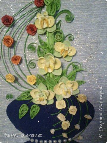 Добрый день всем рукодельницам! Давно не писала, как то времени не хватало. А это посмотрела работы Ольги Ольшак и так захотелось что то сотворить!!!! Вот и сотворила. Это мои первые орхидеи. Идея Ольги , цветы мои. Конечно до совершенства с орхидеями мне еще долго, но все ровно, скажите своё мнение, буду очень рада! Спасибо. фото 2
