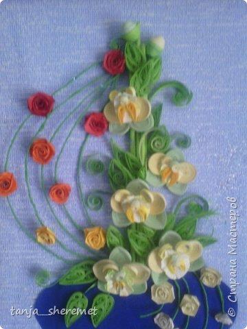 Добрый день всем рукодельницам! Давно не писала, как то времени не хватало. А это посмотрела работы Ольги Ольшак и так захотелось что то сотворить!!!! Вот и сотворила. Это мои первые орхидеи. Идея Ольги , цветы мои. Конечно до совершенства с орхидеями мне еще долго, но все ровно, скажите своё мнение, буду очень рада! Спасибо. фото 4