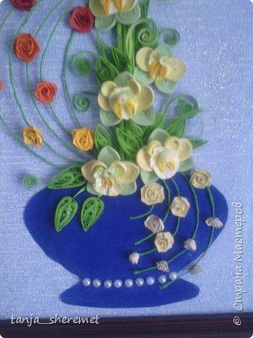Добрый день всем рукодельницам! Давно не писала, как то времени не хватало. А это посмотрела работы Ольги Ольшак и так захотелось что то сотворить!!!! Вот и сотворила. Это мои первые орхидеи. Идея Ольги , цветы мои. Конечно до совершенства с орхидеями мне еще долго, но все ровно, скажите своё мнение, буду очень рада! Спасибо. фото 5