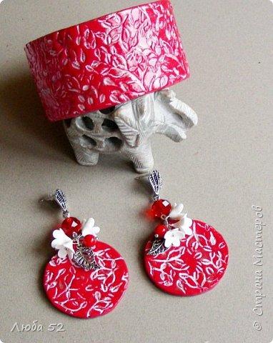 Комплект украшений из термопластики. Яркое стильное украшение к празднику..... фото 1