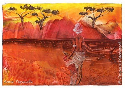 В жаркой-жаркой Африке. Энкаустика. фото 4