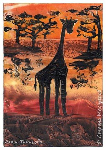 В жаркой-жаркой Африке. Энкаустика. фото 3