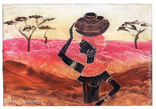В жаркой-жаркой Африке. Энкаустика. фото 8