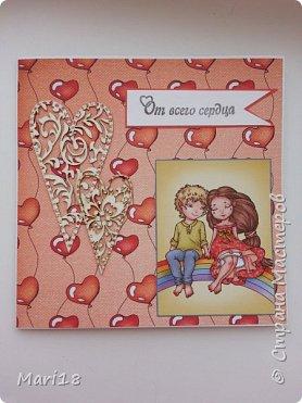 Открытка - к Дню Святого Валентина  фото 1