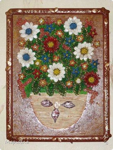 Любят дети возиться с крупами-семенами, хоть и кропотливая это работа. :) Некоторые неделями могут над одной картиной корпеть. Диана, 11 лет. фото 4