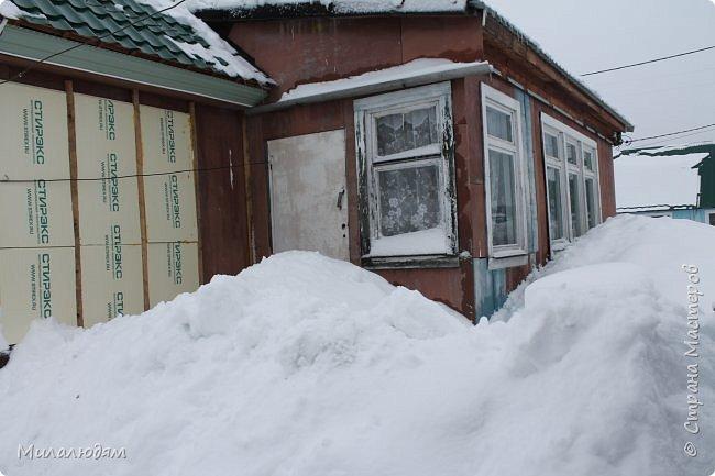 У нас закончились морозы и сразу начался буран и снегопад. фото 10