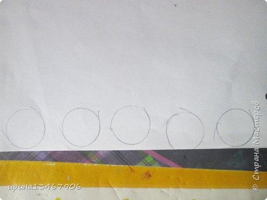 """Всем привет! Сегодня мы сделаем закладки на скрепка""""Смайлики"""" Что нам понадобиться: -1 бумага -2 цветные карандаши -3 картон -4 гелевая ручка -5 скрепки. Так начнём.С начало нарисуем круги или вы можете обвести круглый предмет.  фото 1"""