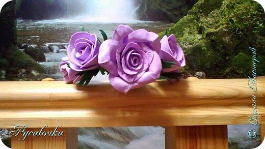 Добрый вечер Страна Мастеров! Сегодня я хочу представить Вашему вниманию свой первый ободочек с цветами из фоамирана. фото 1