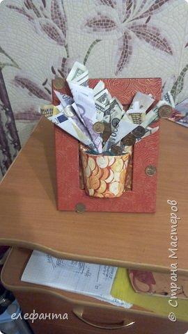 Это рамка мой вариант Денежного крана  . Так как я чего то у нас не могу отыскать в продаже легкие краники то решила импровизировать. И вот получилось такая  фантазия на рамочке . Однако нить идеи мной все же подхвачена  вот здесь http://stranamasterov.ru/user/195868 Спасибо Виолетте Першиной!!! фото 1