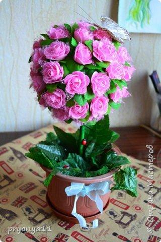 Топиарий цветочный фото 2