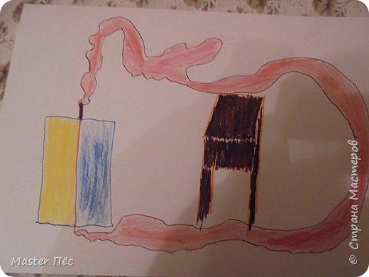 """Всем привет! Сдаю работу на конкурс """"Моя мечта"""" (http://stranamasterov.ru/node/1000504)  Давняя мечта у меня очень необычная. Я хотел бы иметь... лифт в квартире! Всегда хотел ездить на нём по своему жилищу! Надеюсь, что когда-нибудь изобретут такой лифт. Вот я его и нарисовал. Кабинка, трос (он необычной формы), а также столик, чтобы было видно, что это комната фото 1"""
