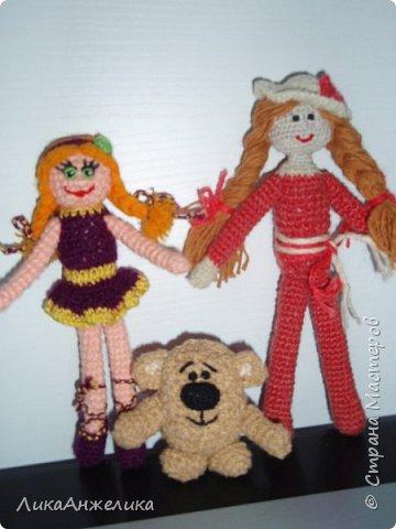 вот такой у меня получился винипушек:), его совсем легко делать, а вот с куколками посложнее фото 1